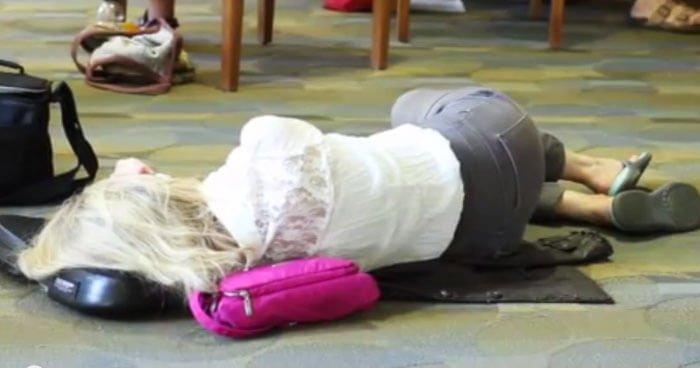 Femeie cazuta din cauza la oboseala suprarenala